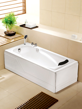 Acrylic Double Group Bathtub Household Adult Couple Freestanding Bath 1.2-1.8m Small Apartment Surfing
