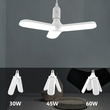 LED Lamp Ceiling Foldable Fan Blade 30/45/60W E27 Led Bulb Creative Angle Fixture Adjustable