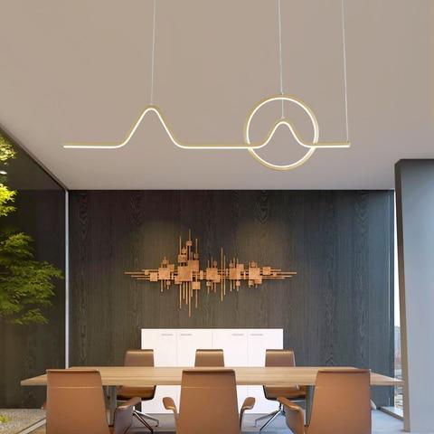 luzes led decorativas pingentes de aluminio com ondas para bar cozinha sala de jantar iluminacao
