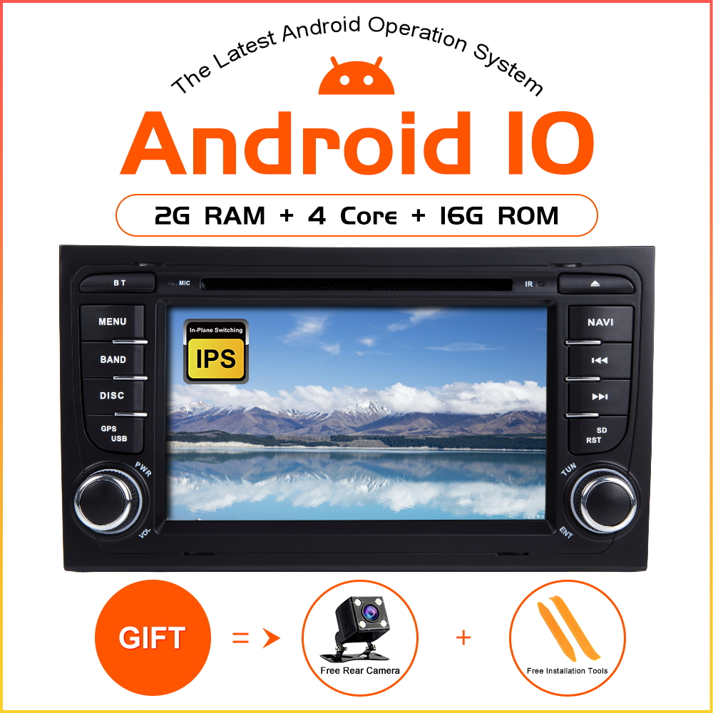 ZLTOOPAI Android 10 Auto Stereo For <font><b>Audi</b></font> <font><b>A4</b></font> S4 2002-2008 B8 <font><b>B6</b></font> B7 S4 2 Din Car <font><b>Multimedia</b></font> Player GPS Car Player DSP DVR SWC WIFI image