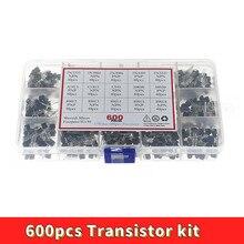 600pcs 15 Kinds Of Values Transistor TO-92 NPN PNP Kit Set 30-160V 50-1000mA NPN / PNP