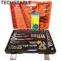 TECHSTABLE набор инструментов для ремонта автомобиля Набор комбинированных инструментов набор гаечных ключей 121 шт набор головок трещотка гаеч...