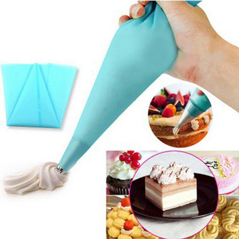 New Confectionery Bag Silicone Icing Piping Cream Pastry Bag Nozzle DIY Cake Decorating Baking Decorating Tools For Cake Fondant