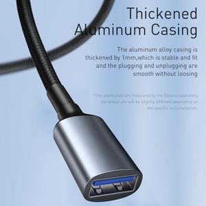 Image 5 - Baseus USB הארכת כבל סוג זכר לנקבה מאריך USB 3.0 חכם טלוויזיה PS4 Xbox SSD 5GB US3.0 נתונים סנכרון חוט כבל