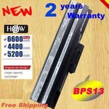 HSW ноутбук Батарея для SONY Vaio VGN-SR41M BPS13/B VGP BPS13/Q VGP-BPS13B/B VGP-BPS13A/B VGP-BPS13/B BPS13 BPL13 Быстрая