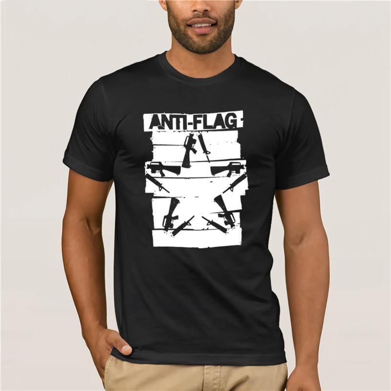 Anti Flag Duct Tape Rifles Guns Star Black T Shirt New Official