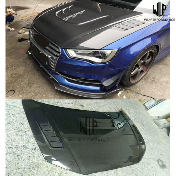 A3 S3 RS3 High Quality Carbon Fiber Front Hood Bonnets Covers for Audi A3 s3 rs3 car body kit 13-19