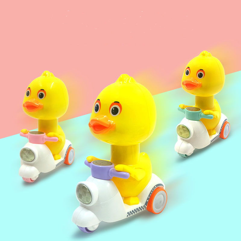 1pcs Educational Push Back The Little Yellow Duck Toy Car Cartoon Cute Duck Motorcycle Children's Toy Infant Kids Toys