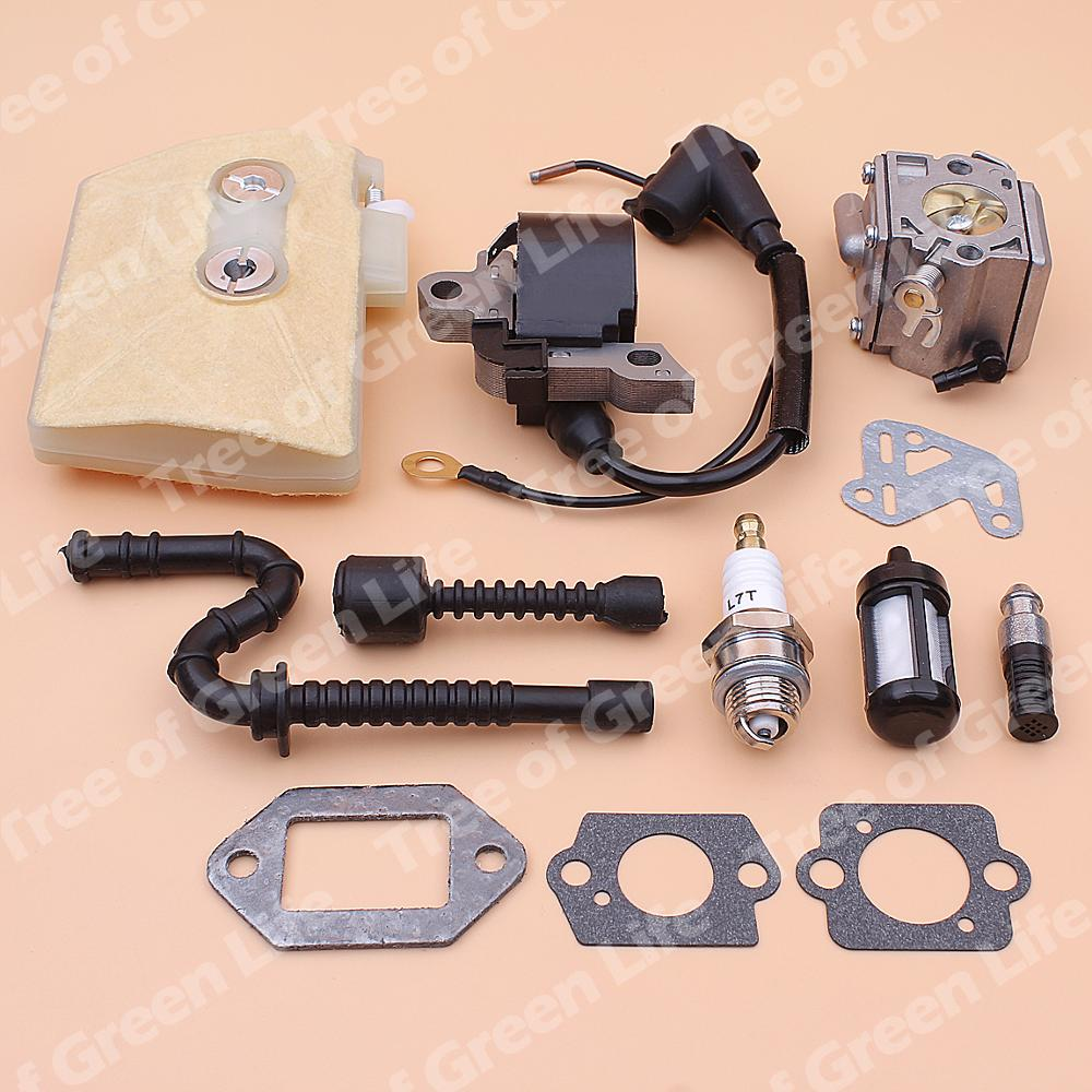 Carb Carburettor Oil Filter Fuel Line Hose Set Replace For Stihl 038 MS380 MS381