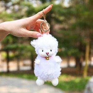 15 см милый кулон из альпаки, плюшевый брелок, лама, плюшевая игрушка, животное, чучело, куклы, мягкий плюшевый брелок овца для подарка на день ...