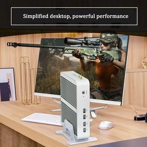 Image 2 - Newest Kaby Lake R 8Gen Fanless mini pc i5 8250u Intel iris 655 win10 Quad Core 8 Threads DDR4 2400 2666 NUC