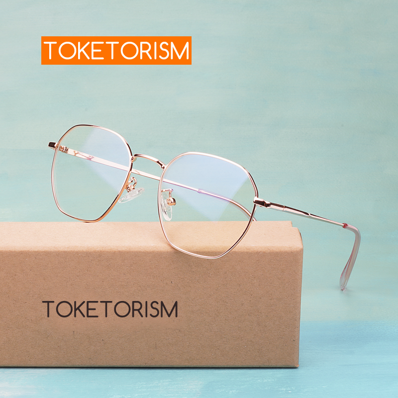 Toketorism Trendy Women's Eyeglass Metal Frame Miopia Prescription Glasses Frames 6023