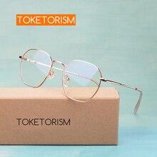 Toketorism trendy womens eyeglass metal frame miopia prescription glasses frames 6023