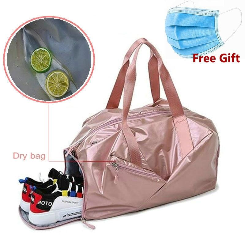 Outdoor Travel Sport Yoga Gym Handbag Waterproof Canvas Bag Messenger Tote