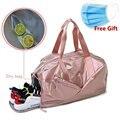 Спортивные сумки для женщин с отделением для обуви  спортивная сумка для спортзала с мокром карманом  новые женские спортивные сумки для йо...