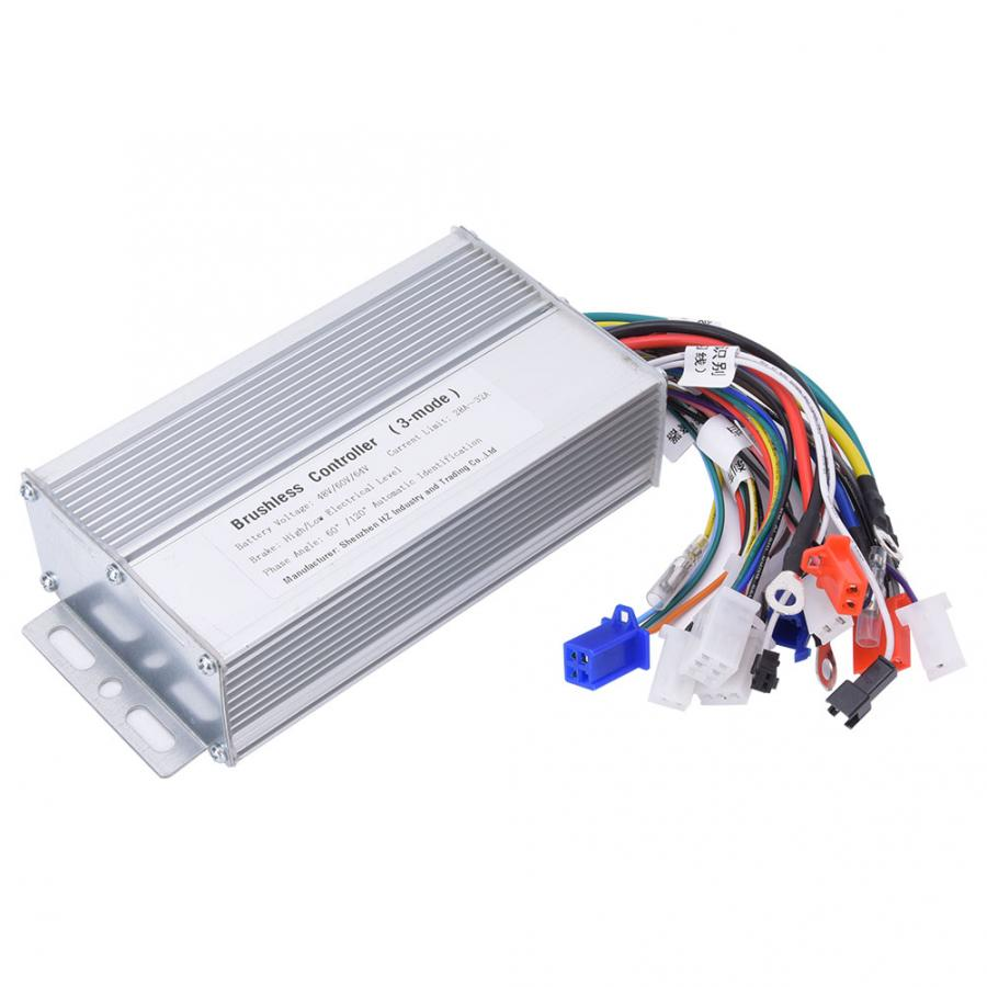 48V 60V 64V 1000W-1500W E-bike Brushless Speed Motor Controller Electric Bicycle Electric Scooter 12 Tube Sine  Controller