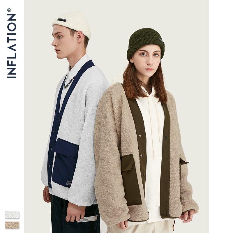 INFLATION Polar Fleece Men Winter Jacket Thick Men Coat 2020 Street Loose Fit Polar Fleece Men Jacket chaqueta hombre 9737W