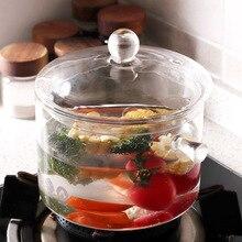 Торговля боросиликатный жаростойкий стеклянный горшок высокотемпературный толстый кухонный горшок бытовой Овощной салатник Tran