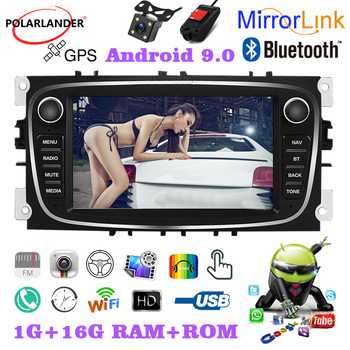 MP5 Dual USB 7 Inch Dual-ingot Android 2 Din GPS TFT Capacitive Touch Screen F7800B For Ford/Focus/S-Max/Mondeo 9/GalaxyC-Max image