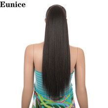 лучшая цена 24inches Silky Straight  Drawstring yaki Ponytail  Clip in Extension Style Eunice  products  Ponytail Synthetic Women's Hair
