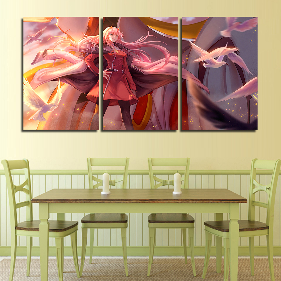 Darling in the FranXX 02 Zero Two HD Canvas Print Wall Poster Scroll Room Decor