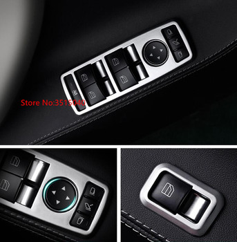 For Tesla Model S/Model X 2014-2017 5PCS ABS Chrome Car Door Armrest Window Glass Lift Button Trim Cover sticker Car Styling