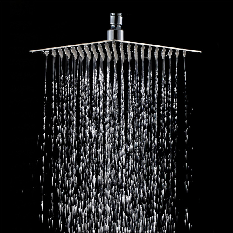 Rainfall Shower Head Stainless Steel Ultra-thin Showerheads 20x20cm 8inch Square Rain Shower Bathroom Top Thin Sprayer