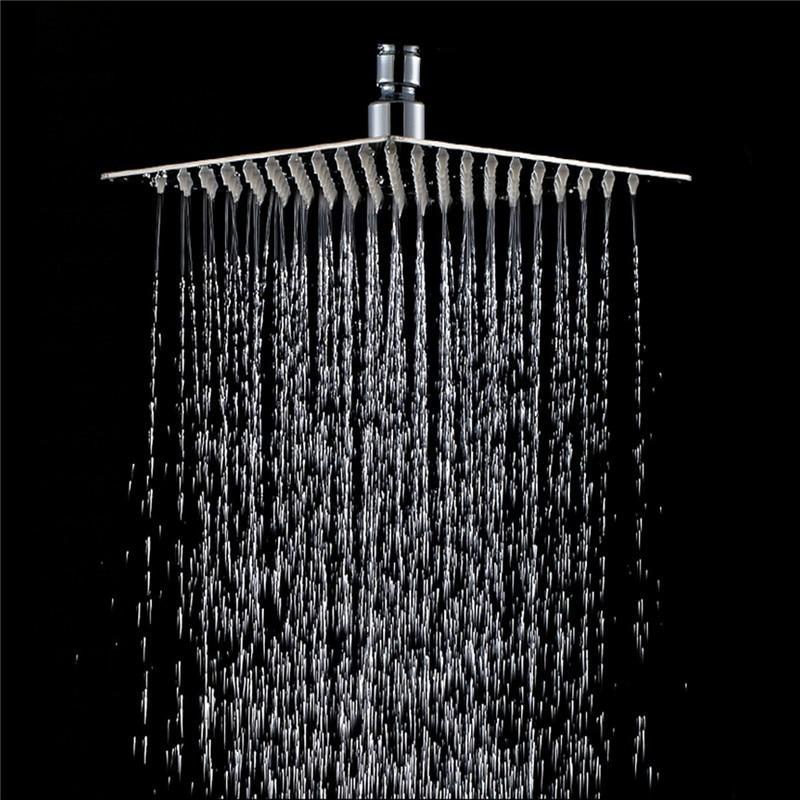 Rainfall Shower Head Stainless Steel Ultra-thin Showerheads 20x20cm 8inch Square Rain Shower Bathroom Top Thin Sprayer