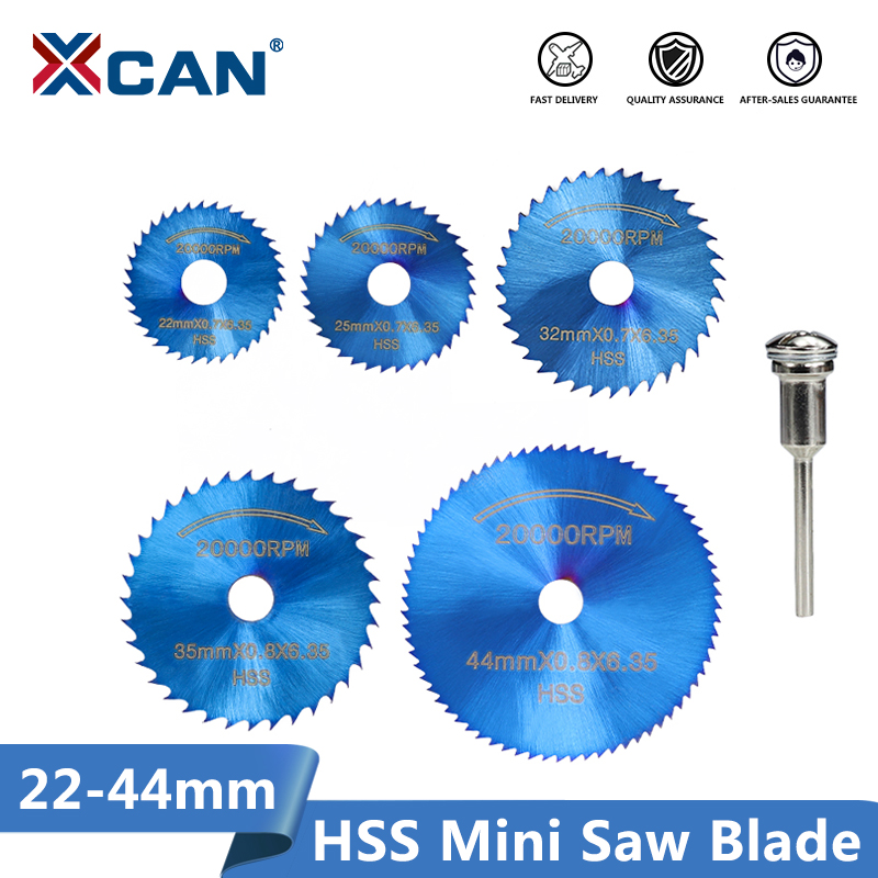 XCAN 1 Set Mini Saw Blade Nano Blue Coated HSS Cutting Disc For Dremel Rotary Tools Wood Metal Circular Saw Disc Blade