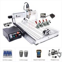 4 Trục Cổng USB CNC 8060 2.2KW Con Quay March3 ER20 Collet CNC Router 3D Cắt Kim Loại Nhôm Khắc CNC PHAY GỖ