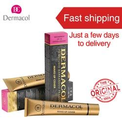 Основа для макияжа Dermacol, веснушки, акне, Dermacol, основа, крем Corretivo, Прямая поставка, поставщики, USA Pro, консилер, праймер
