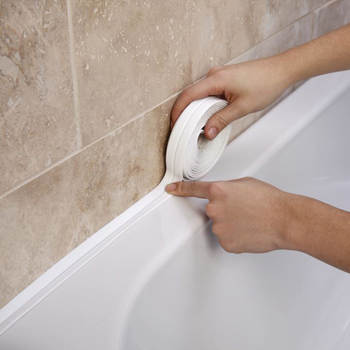 2020 Bathroom Shower Sink Bath Sealing Strip Tape White PVC Self adhesive Waterproof Wall Sticker for Bathroom Kitchen