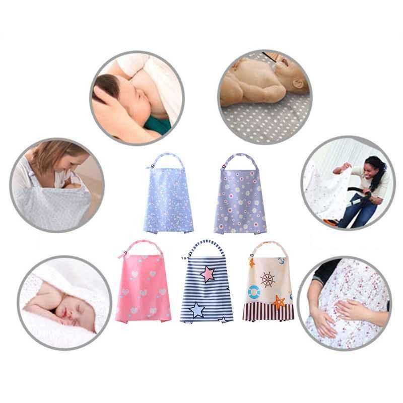 Osłona do karmienia piersią tkanina niemowlęca szal poncho Udder bawełniany koc