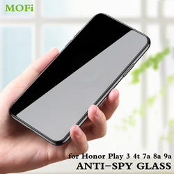 Mofi Anti Spy Gehard Glas Voor Honor Play 3 4T Pro 7A 8A 9A Privacy Screen Protector 4Tpro 8Apro 8Aprime Gluren Volledige Cover