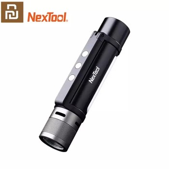 NEXTOOL 6-in-1 1000lm Dual-light Zoomable Alarm Flashlight USB-C Rechargeable Mobile Power Bank Camping Work Light