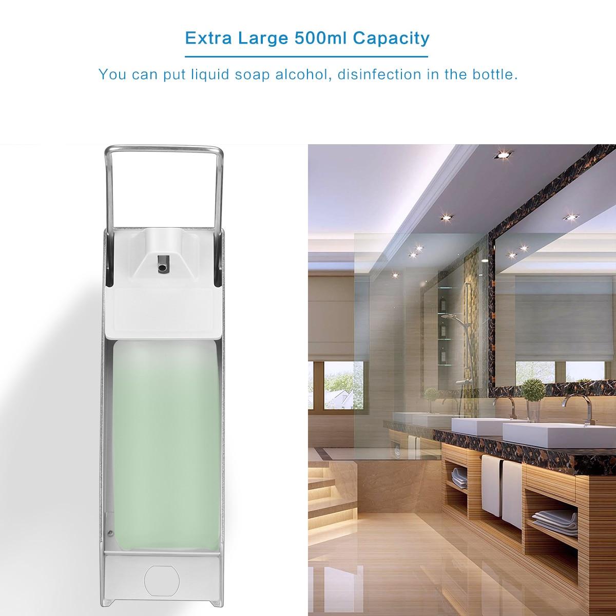 H9f04acd188034f38ba44780c826d53ebw Wall-Mount Liquid Soap Dispenser Pump Hospital Elbow Press Hand Sanitizer Soap Dispenser Bottle For Kitchen Hotel Bathroom