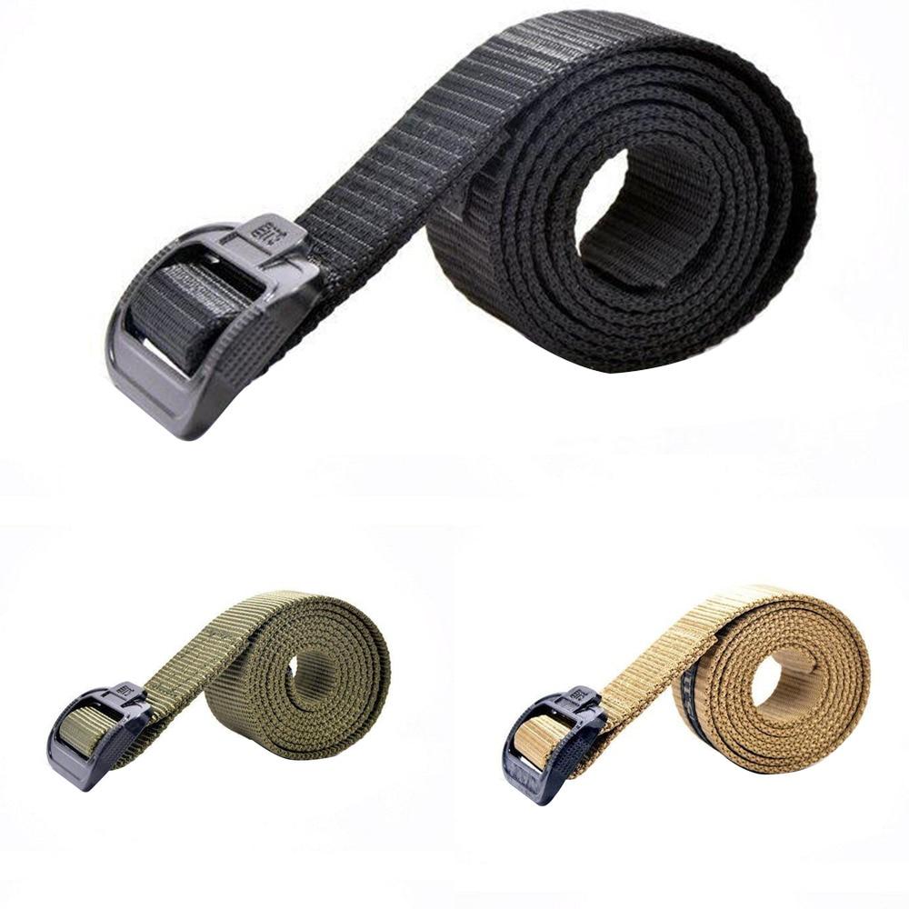 Military Men Tactical Belt Accessories Nylon Fabric Adjustable Daily Lightweight Outdoor Indoor Front Buckle WaistBelt