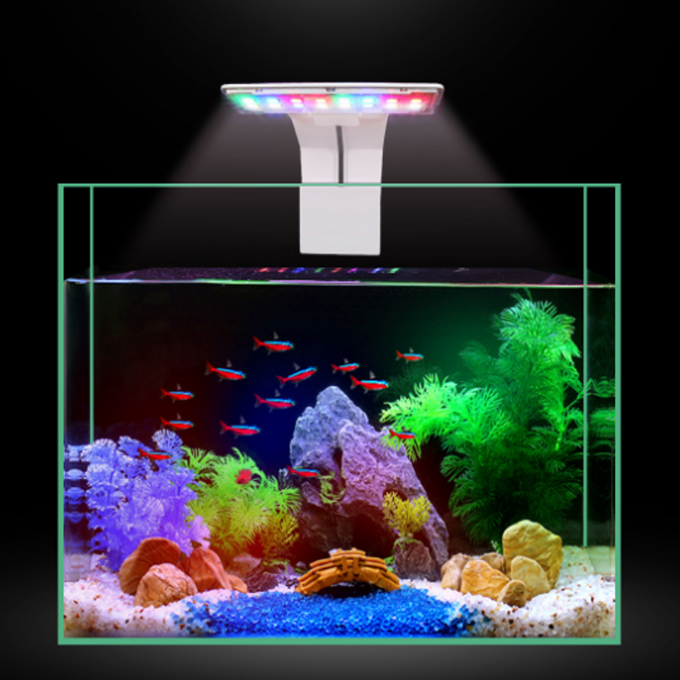 3 modos 5W LED Aqua Fish Light para acuario pecera Clamp Clip luz blanca Azul Rojo verde Color Lighting Lámpara de pie de pluma de avestruz nórdica soporte de cobre ligero iluminación Interior moderna decoración hogar luces de suelo Luminaria pluma de avestruz