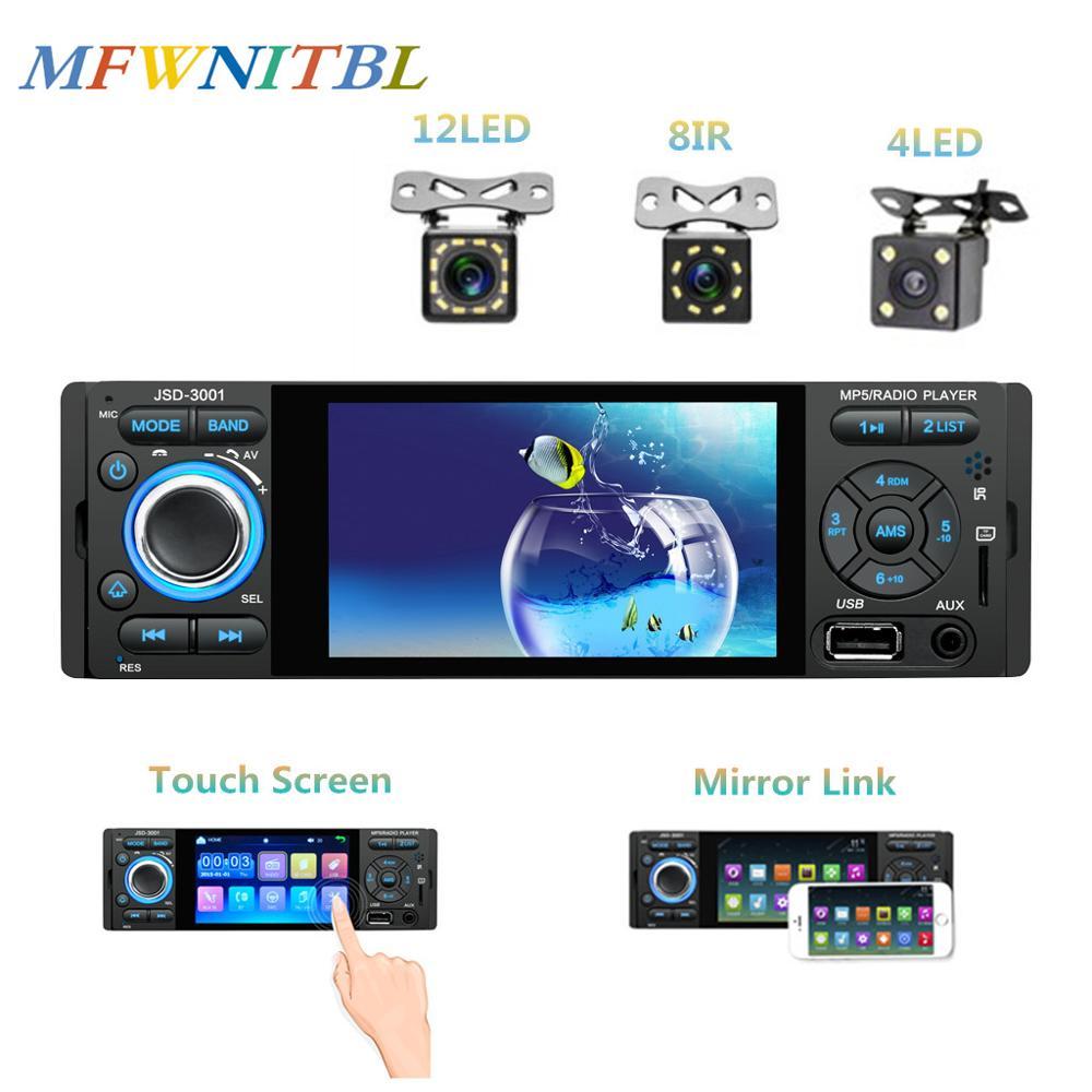 LTBFM-reproductor de vídeo estéreo para coche, de 4