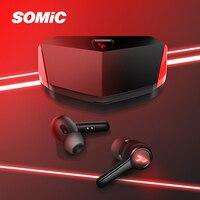 SOMIC TWS Ohrhörer Wahre Drahtlose Bluetooth 5,0 Sport Stereophon Freisprecheinrichtung Mini Kopfhörer Mit Lade Fall In-Ear Ohrhörer GX501