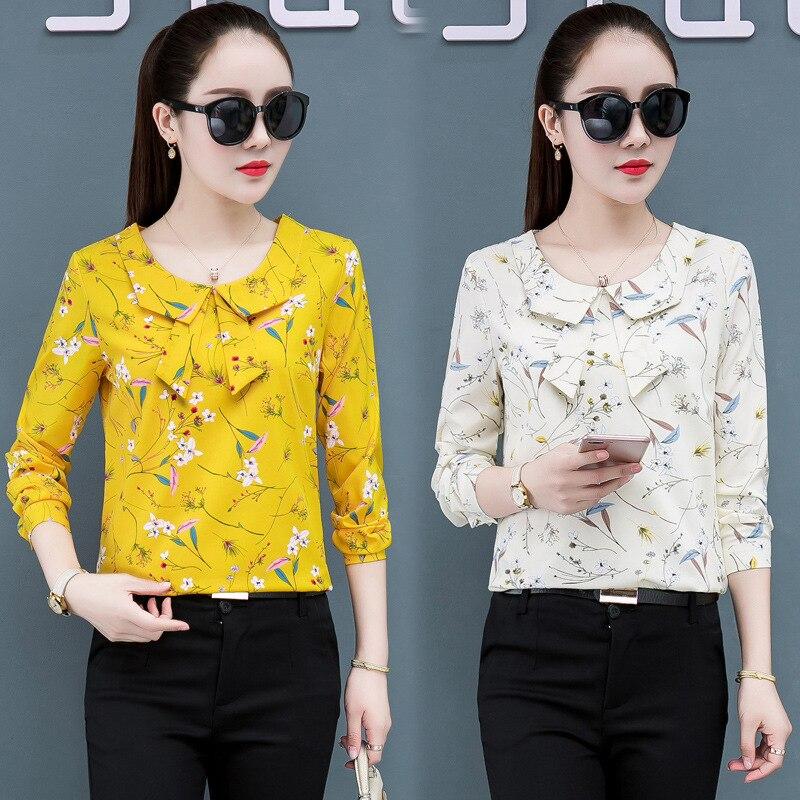 Купить весенние женские рубашки с длинным рукавом одежда blusas mujer