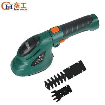 Herramienta eléctrica para jardín y jardinería, 3,6 V, 2 en 1, batería de iones de litio, cortasetos para césped, tijeras eléctricas para podar, cercas recargables