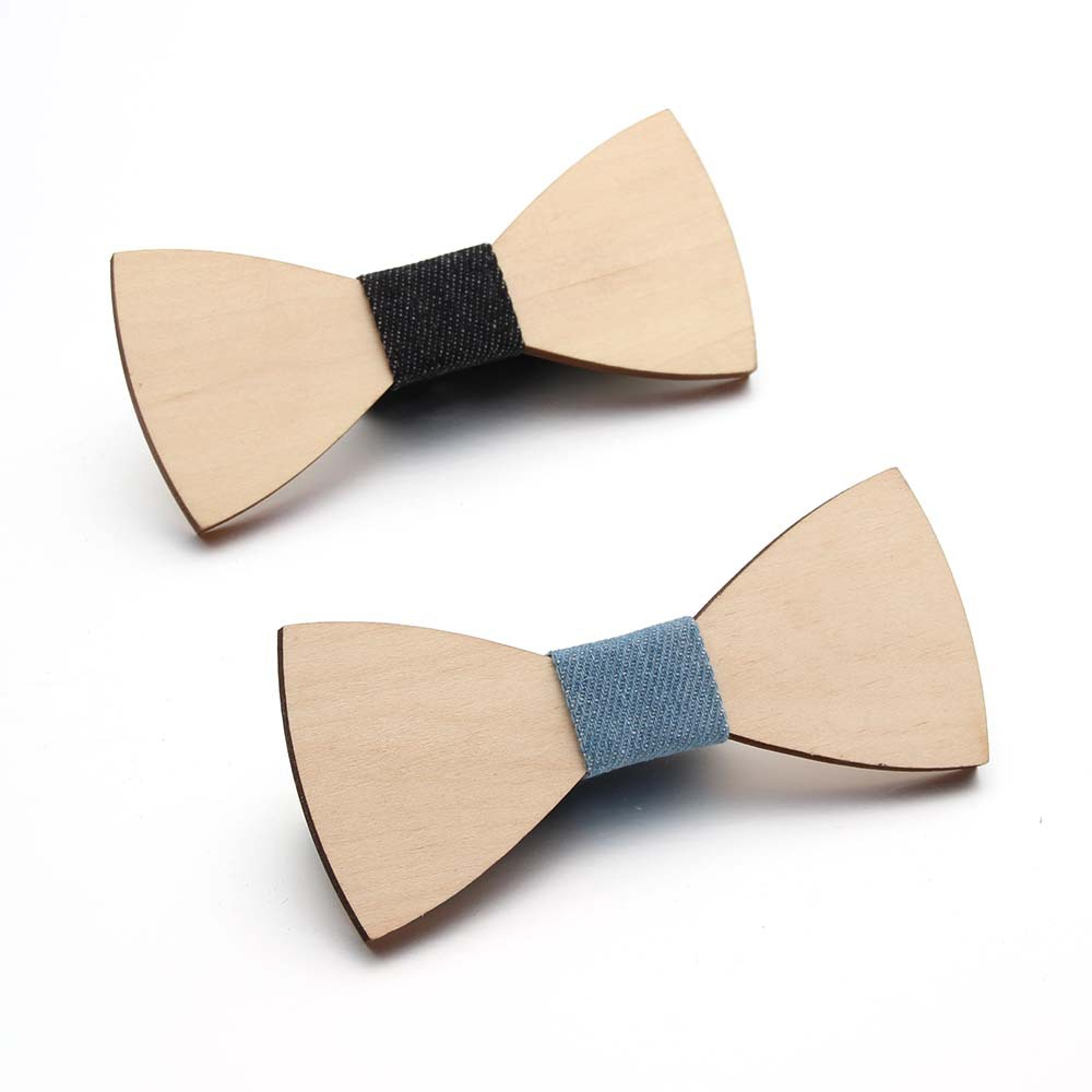 DIY Men's Solid Wood Bow Tie European And European Popular Wood Bow Tie Handmade Skinny Tie  Fake  Collars