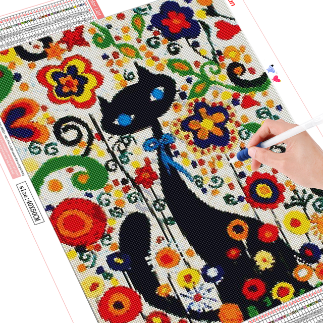 HUACAN Full Drill Diamond Painting Cat Mosaic Cross Stitch 5D Animal Diamond Embroidery Art Decoration New Arrival