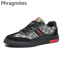 Phragmites Spring Autumn Casual PU Leather Flat Shoes Lace-up Outdoor Work Comfort Walking zapatillas hombre