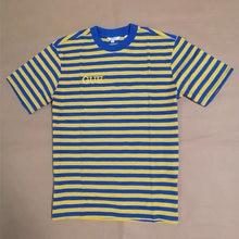 Camiseta a rayas de LA Asap para hombre y mujer, camisa de algodón Vintage holgada, informal, a rayas, de colores, novedad de verano de 2021