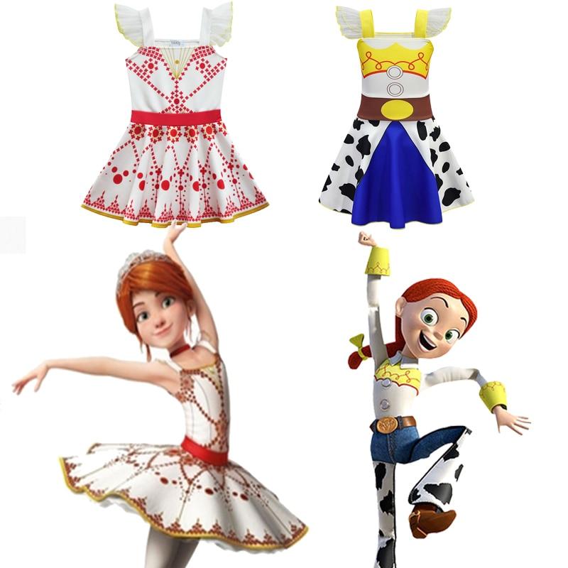 Ballet Skirt Dress Toy Story 4 Kids Girls Halloween Cosplay Costumes Summer Top