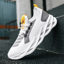 Men casual shoes light sneakers fashion breathable summer mesh outdoor sports white walking elastic new large size running shoe