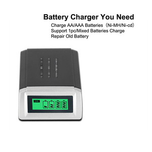 Image 5 - PUJIMAX LCD 002 LCD Display With 4 Slots Smart Intelligent Battery Charger For AA/AAA NiCd NiMh Rechargeable Batteries