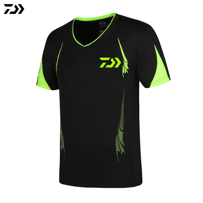 DAIWA Clothes Plus Size XS~5XL Men Quick Drying Fishing Clothing T Shirt Short Sleeve Sunscreen Anti-UV Breathable Fishing Shirt